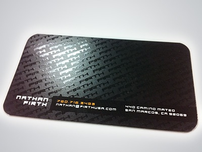 Old Business Card business card spot uv gloss