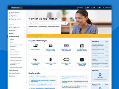 Employee Service Portal for Major Retailer
