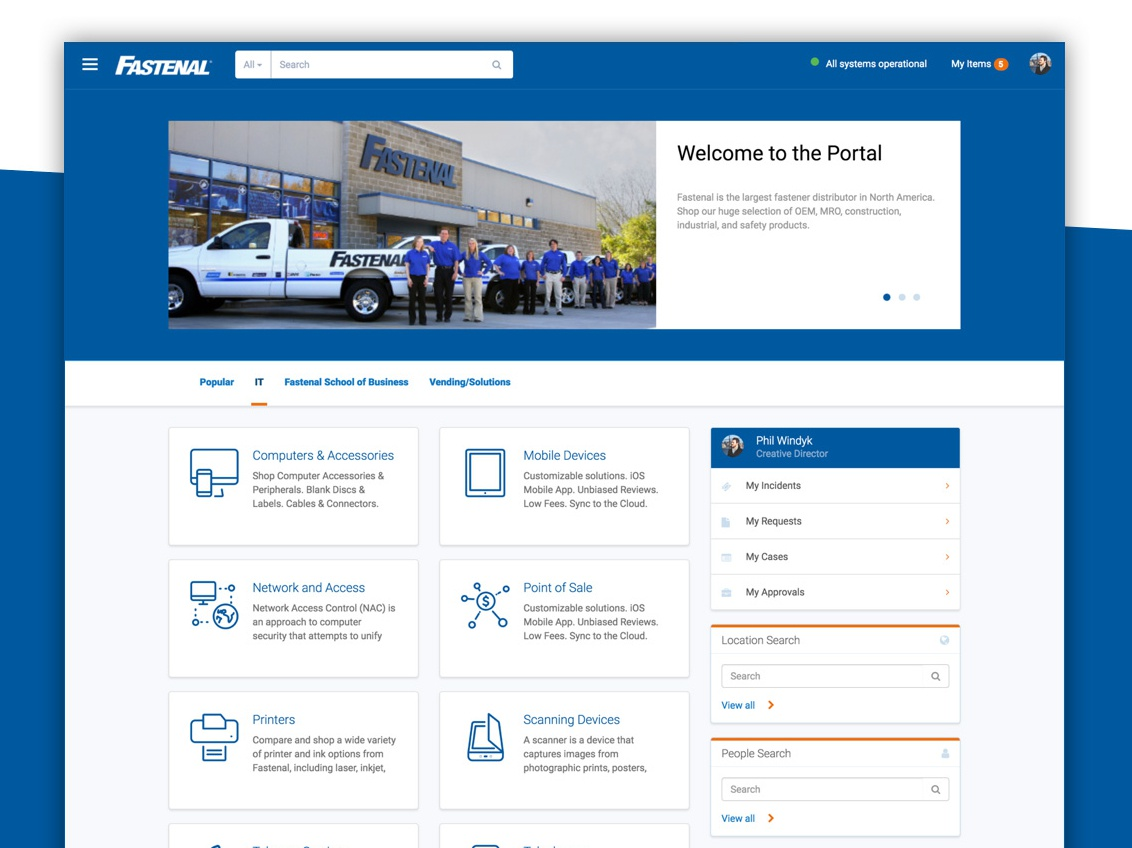 Fastenal Employee Service Portal by Nathan Firth for