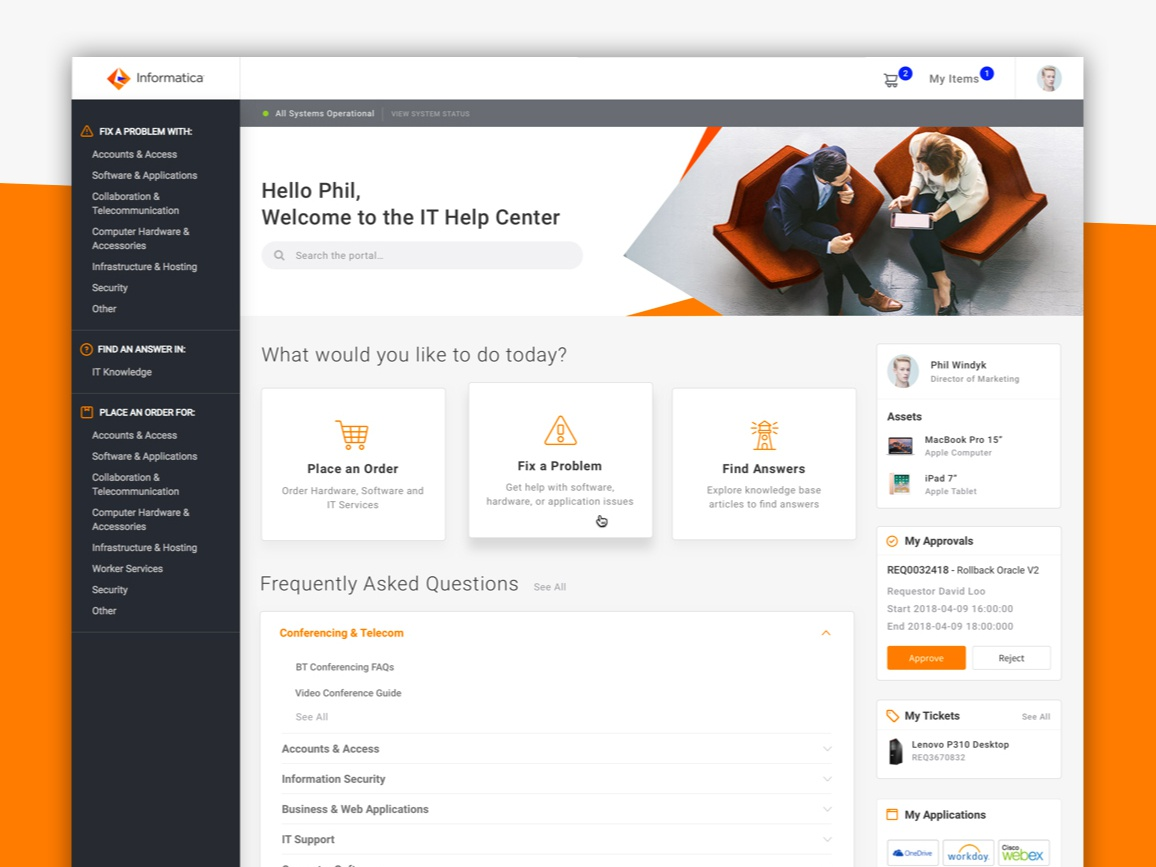 Informatica Employee ServiceNow Service Portal by Nathan
