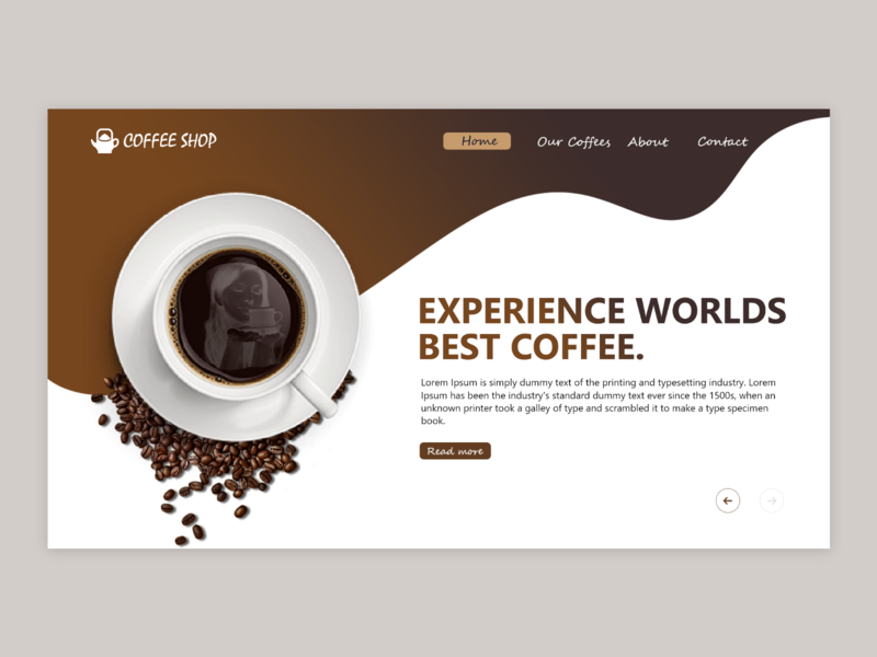 Coffee shop colors coffeeshop coffee ui mockup design logo illustrator branding uidesign