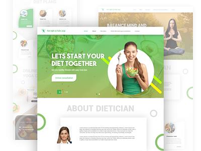 Eat right @ halo yogi online diet consultation diet ux design uidesign website ui website builder yoga consult nutritionist dietician