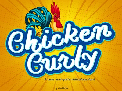 Chicken Curly - display font brush logo illustration calligraphy display font simple ridiculous funny cute display typeface display type font design font family design vector typography handwritten typeface display font