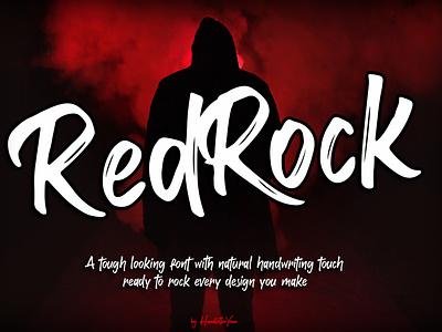 RedRock packaging t-shirt product poster design handwritten typeface display font