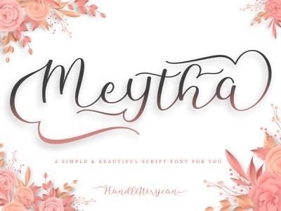 Meytha beautiful design font design branding typography typeface packaging label quote logo font script