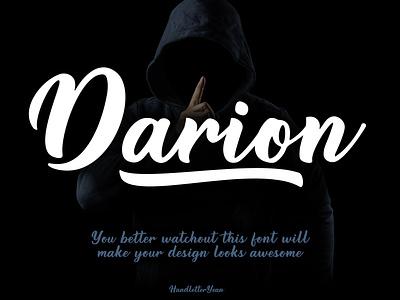 Darion - Bold script font menu design invitation design product poster packaging logo script handwritten font