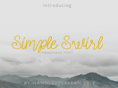 Simple Swirl handwriting font handwriting handwritten fonts font awesome font family font design font script lettering script font scripts script display typeface display type display font display logo design illustration typography