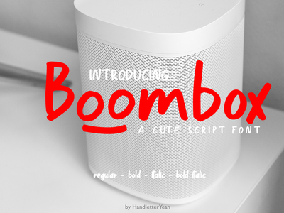 Boombox illustration branding fonr creator typeface vector font family typography design display font