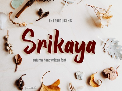 Srikaya font creator font design typography font display calligraphy and lettering artist typeface autumn calligraphy brush