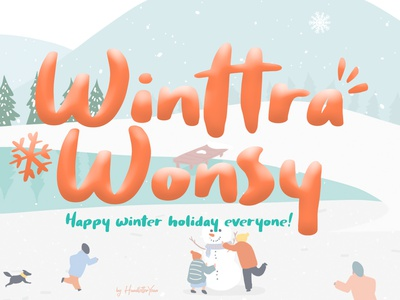 Winttra Wonsy illustration display type design typography typeface handwritten font family font design font display