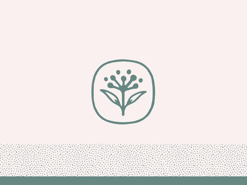 Floral Mark identity texture dots floral flower mark logo brand