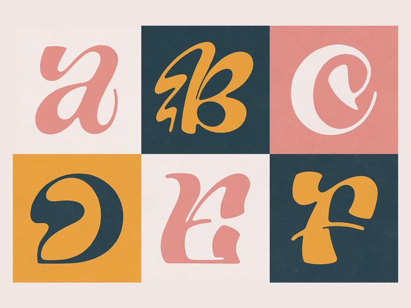 36 Days of Type A-F handmade texture illustration lettering 36 days of type lettering f e d c b a typography type 36 36days 36 days of type 36daysoftype