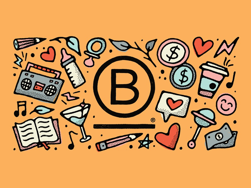 Our Top Five B Corp Benefits texture handmade blog money baby drawing doodles doodle illustration b corp