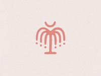 Palmetto Mark handmade texture south carolina illustration logo mark moon palmetto palm