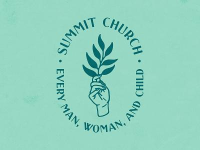 Summit Church Merch handmade text texture plant hand illustration design shirt apparel merch church summit