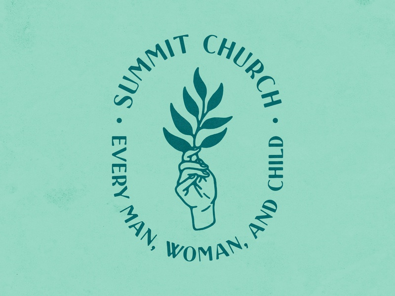 Summit Church Merch handmade text texture plant hand illustration design shirt apparel merch church summit
