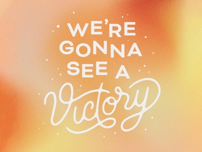 Victory handlettering handmade illustration texture gradient script typography type lettering victory