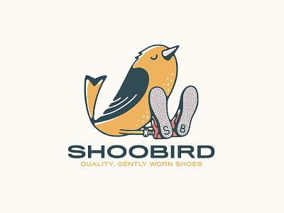 SHOOBIRD handmade lettering logo bird logo shop mascot animal illustration bird illustration character bird shoes shoobird