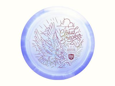 Cloud Breaker 2 Redesign font texture typography sport stamp disc eagle design illustration design illustration cloud breaker 2 disc golf