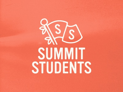 Summit Students Exploration font design texture typography handmade lettering illustration flag logomark mark branding brand logo