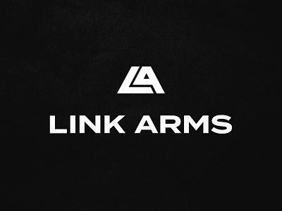 Link Arms typography texture design font logomark wordmark link arms icon branding brand logo