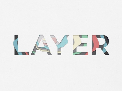 Layer font text paper color layers lettering typography type layer