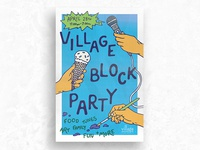 Village Block Party Poster