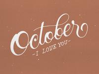 October I Love You
