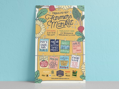 Travelers Rest Farmers Market 2019 Poster