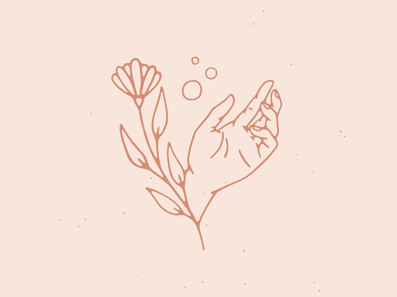 Growth drawing handmade growth illustration illustrator flower plant hand