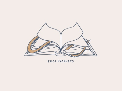 False Prophets prophets prophet false evil bible scripture read hand drawn handmade drawing illustration snake book