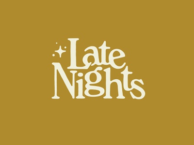 Late Nights serif star nights night late night late typography type lettering