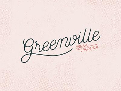 GVL Script illustration handlettering poster halftone typography type font script font lettering script lettering script gvl carolina south carolina south greenville