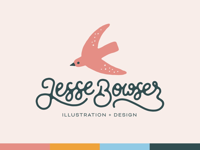 Personal Identity texture illustration typography lettering script lettering script bird brand logo personal brand personal branding identity personal