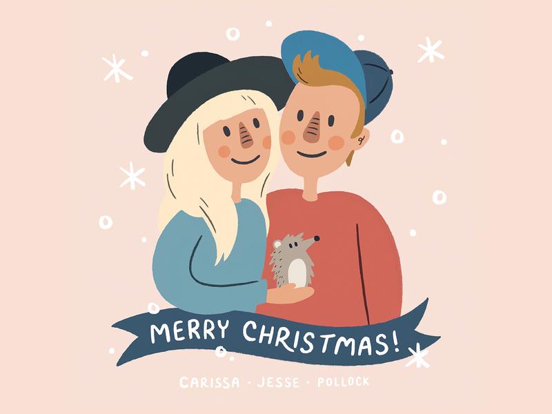 Christmas Card 2019 handmade cute snow hedgehog human person man illustration portrait illustration portrait card holiday christmas merry christmas merry