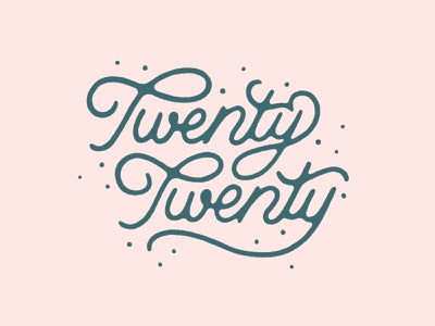 2020 texture typography illustration handlettering font script font script lettering holiday new year twenty 2020