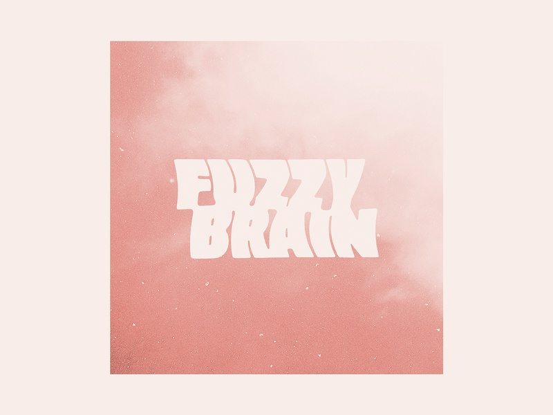 Fuzzybrain type fuzzybrain album lettering