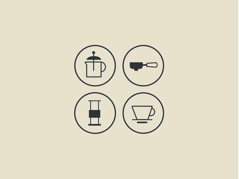 Icon Set logo design vector illustration lineart icons iconography branding coffee shop illustration graphic design coffee logo minimalist logo logodesign coffee bag coffee icon icon design icon set