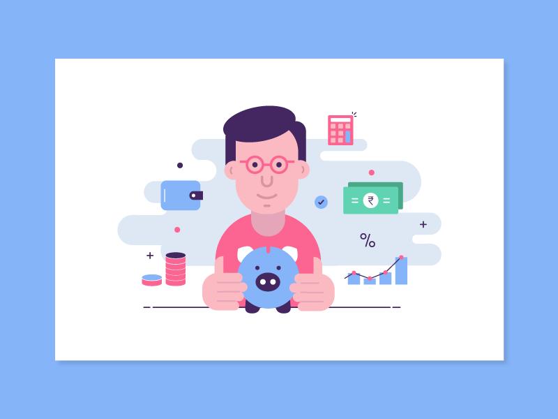 Tax saver fund savings icon money vector tax illustration