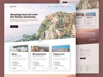 Travella Italy – A fictional travel guide website