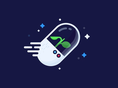 Capsule vector identity illustration life voyager space capsule