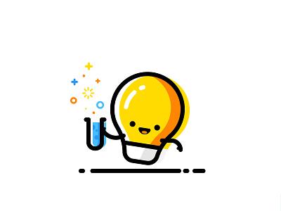 Bulby iconographer bulby bulb icon vector identity illustration idea