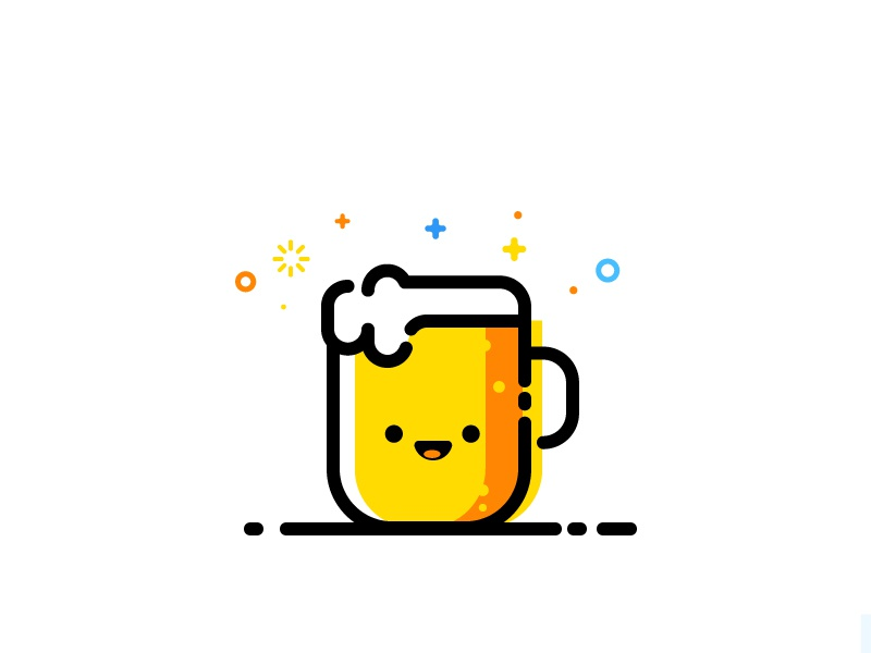 Beer vector identity illustration beer