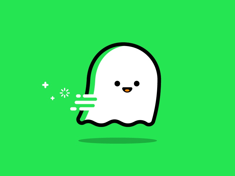 Ghost vector identity illustration ghost