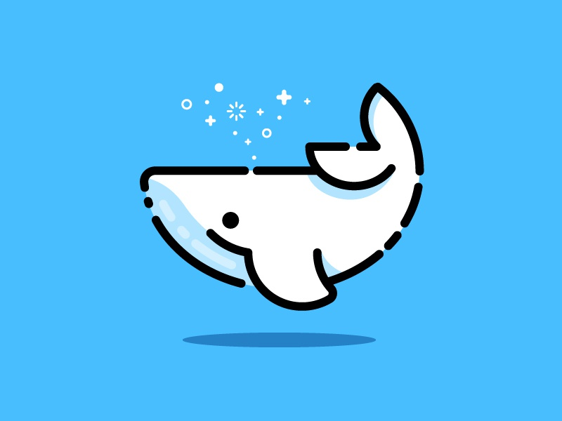 Whale vector identity illustration whale