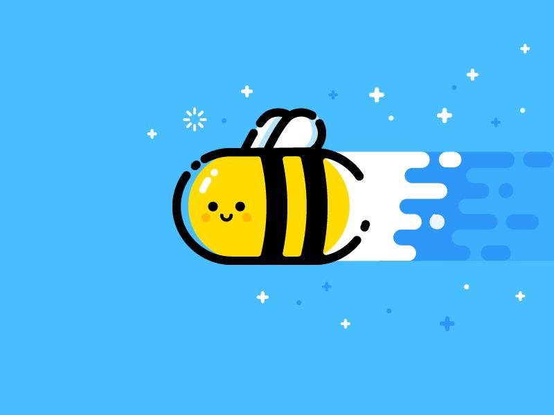 Bee vector identity illustration bee