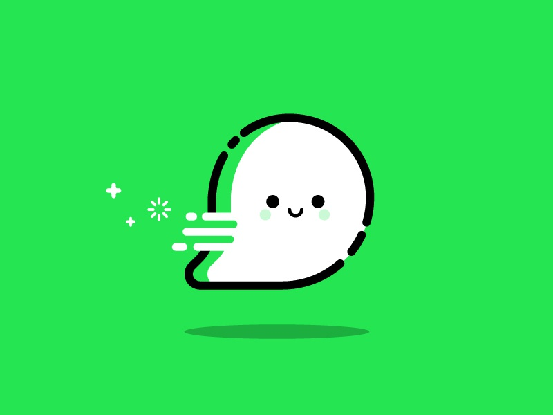 Ghost vector identity illustration chat ghost