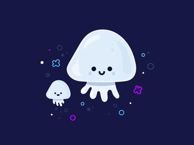 jellyfish vector identity illustration fish jelly