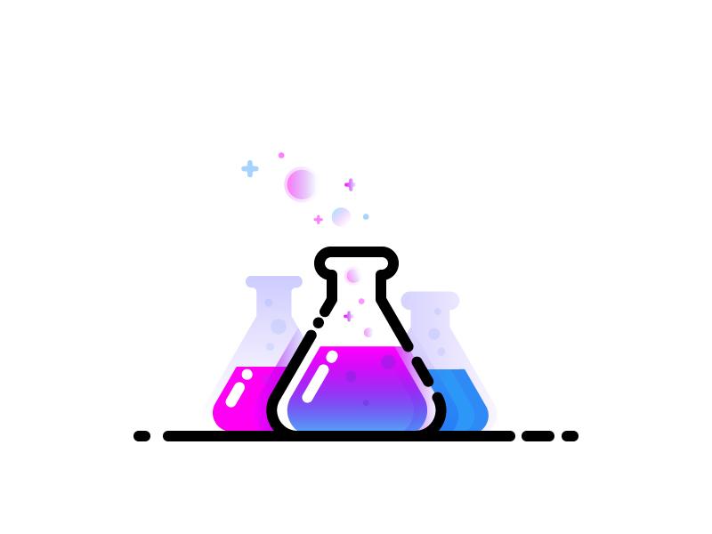 Lab vector identity illustration love lab
