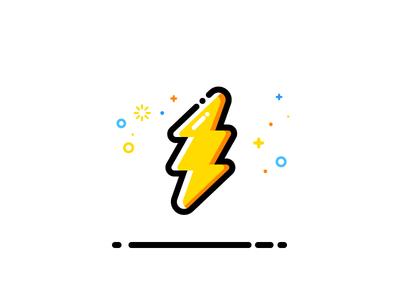 Thunder vector identity illustration thunder